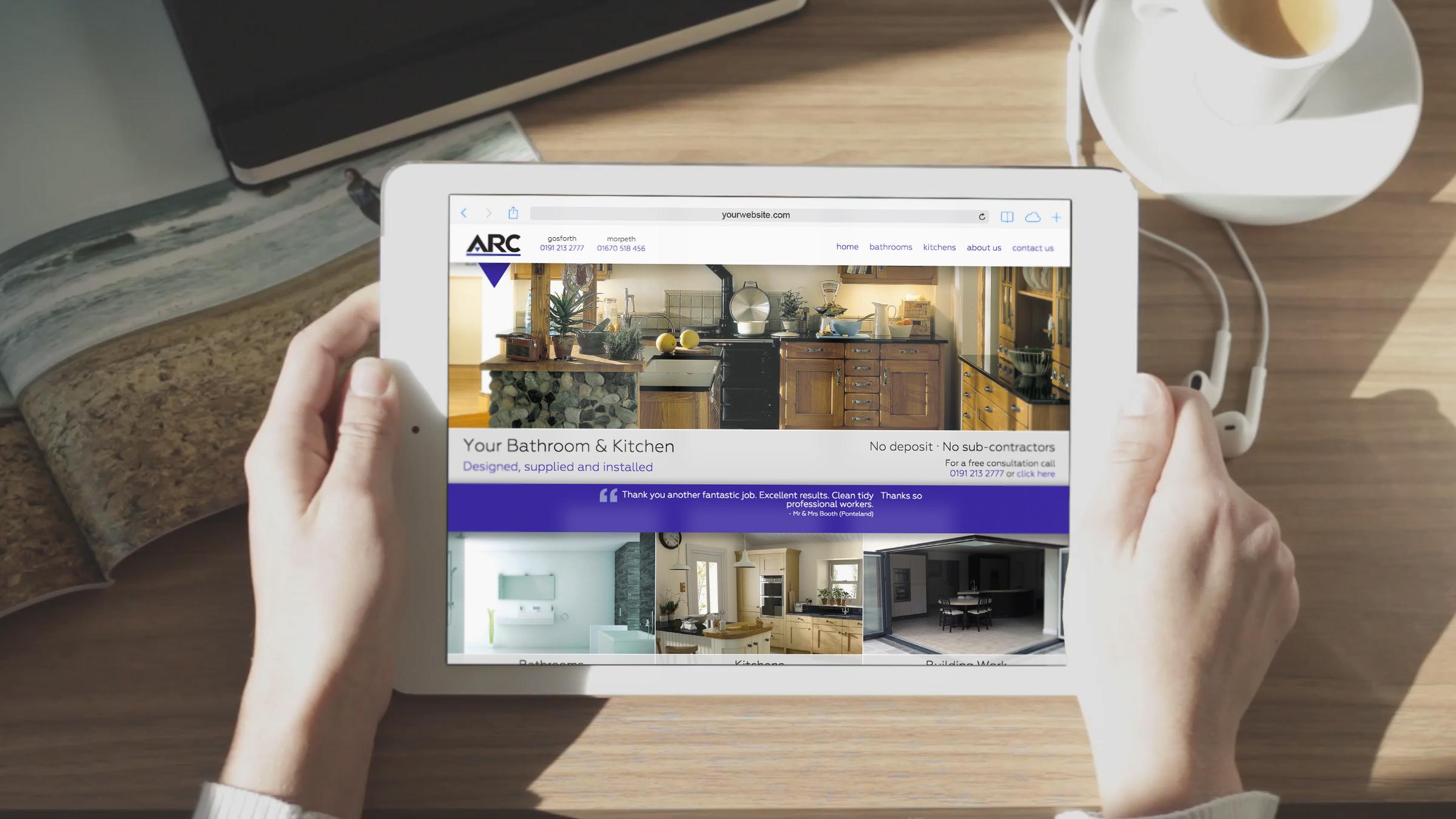ARC Bathrooms Website