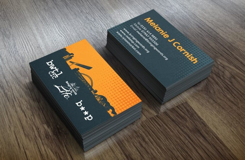 Printing newcastle sleeky bringing words to life business cards reheart Image collections