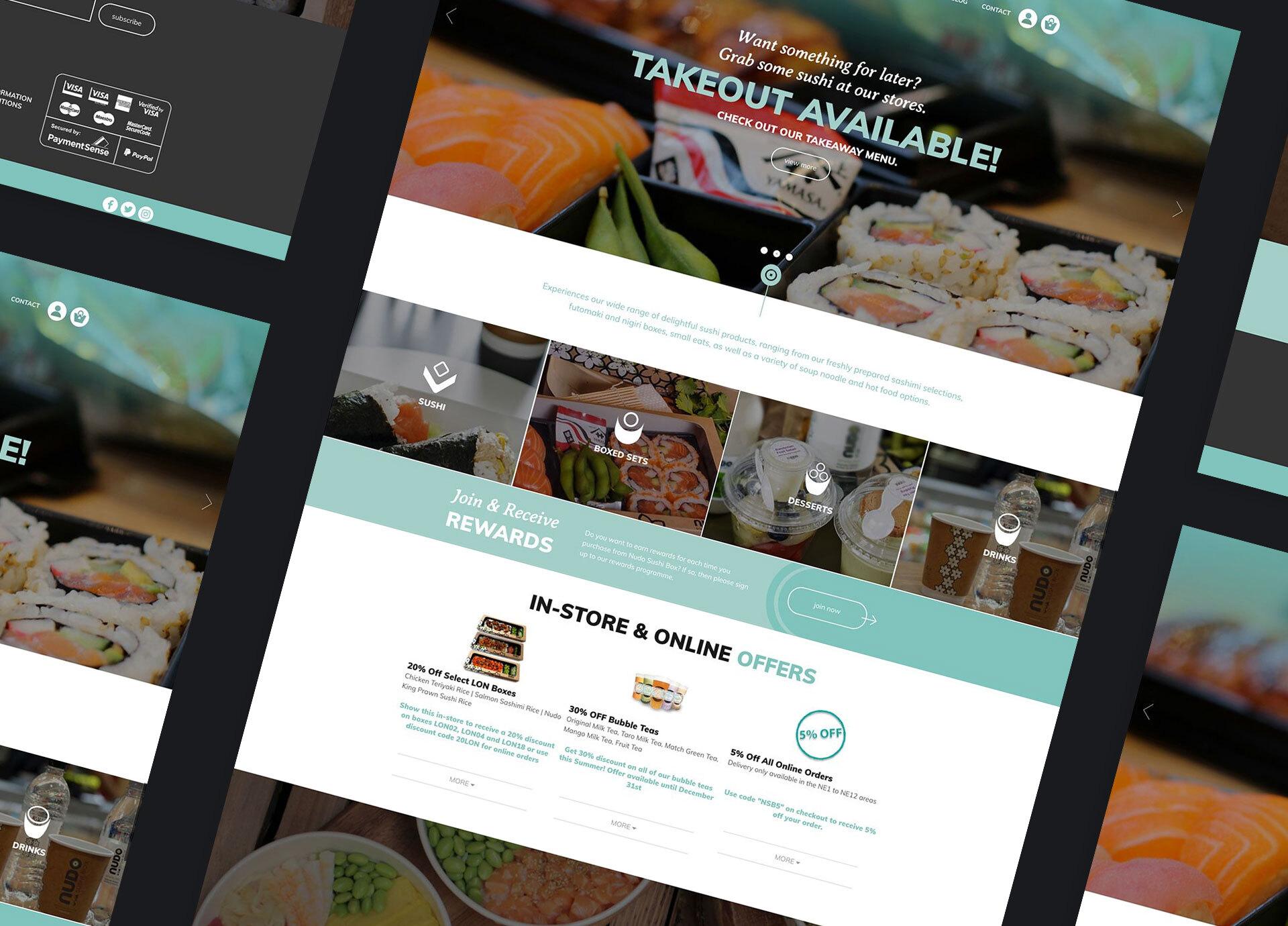 Nudo Sushi Box Website