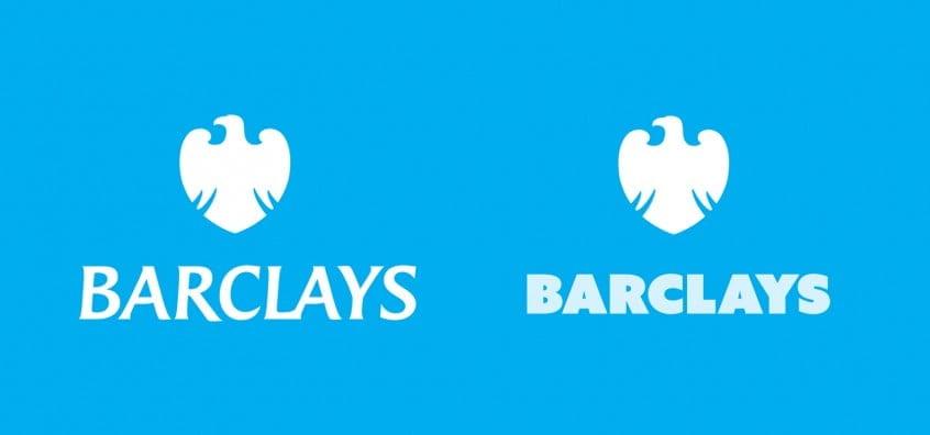 Barclays Bank Logo in Azo Sans Uber