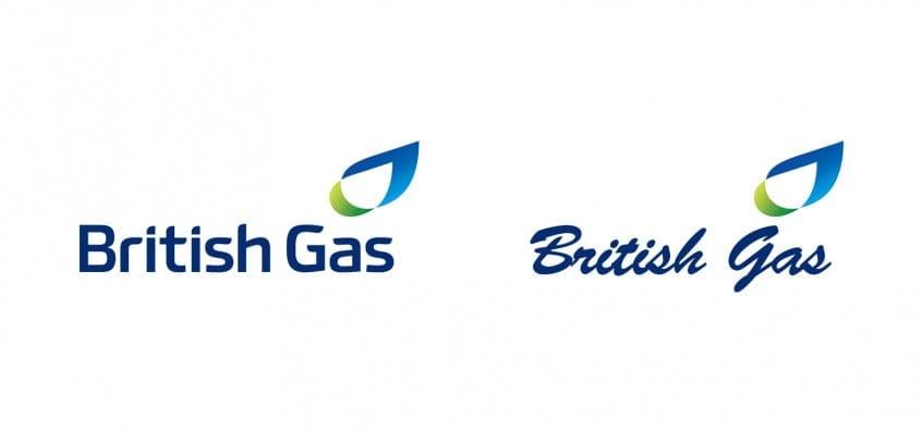 British Gas Logo In Brush Script MT Font