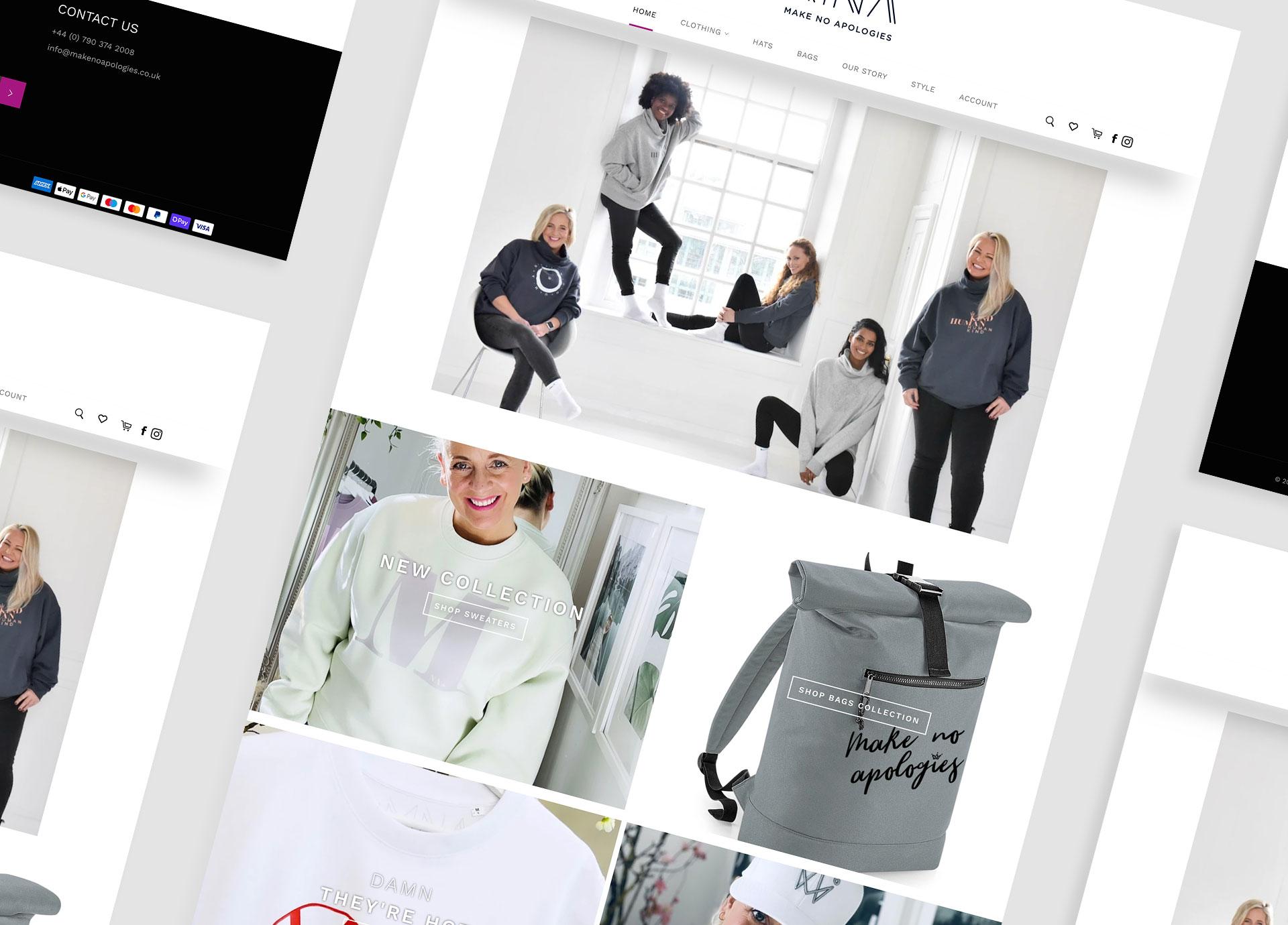 Make No Apologies website design by Sleeky