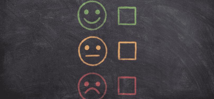 Illustration of emotive faces