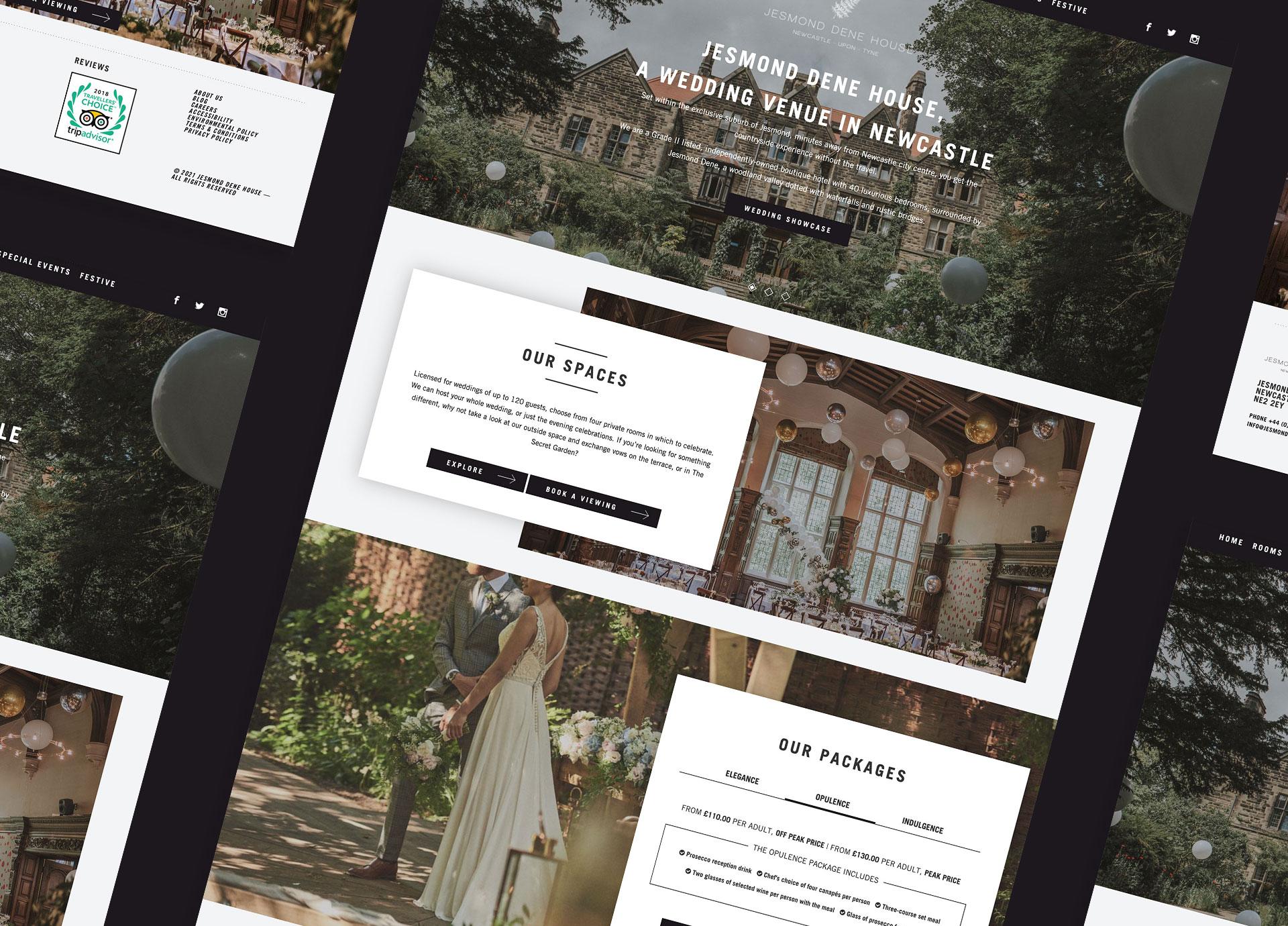 Jesmond Dene House website design