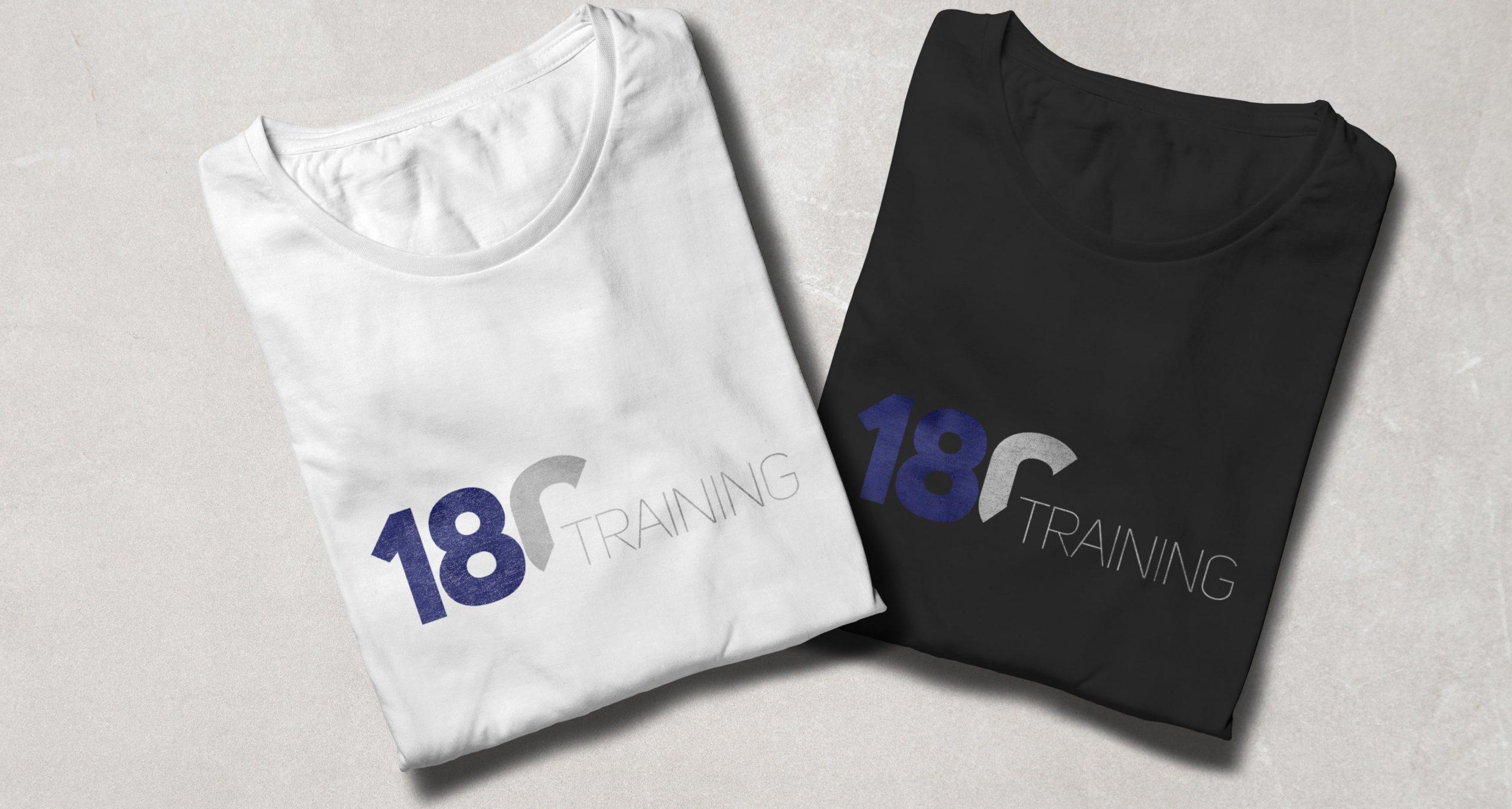 180 Training logo design on T-shirts