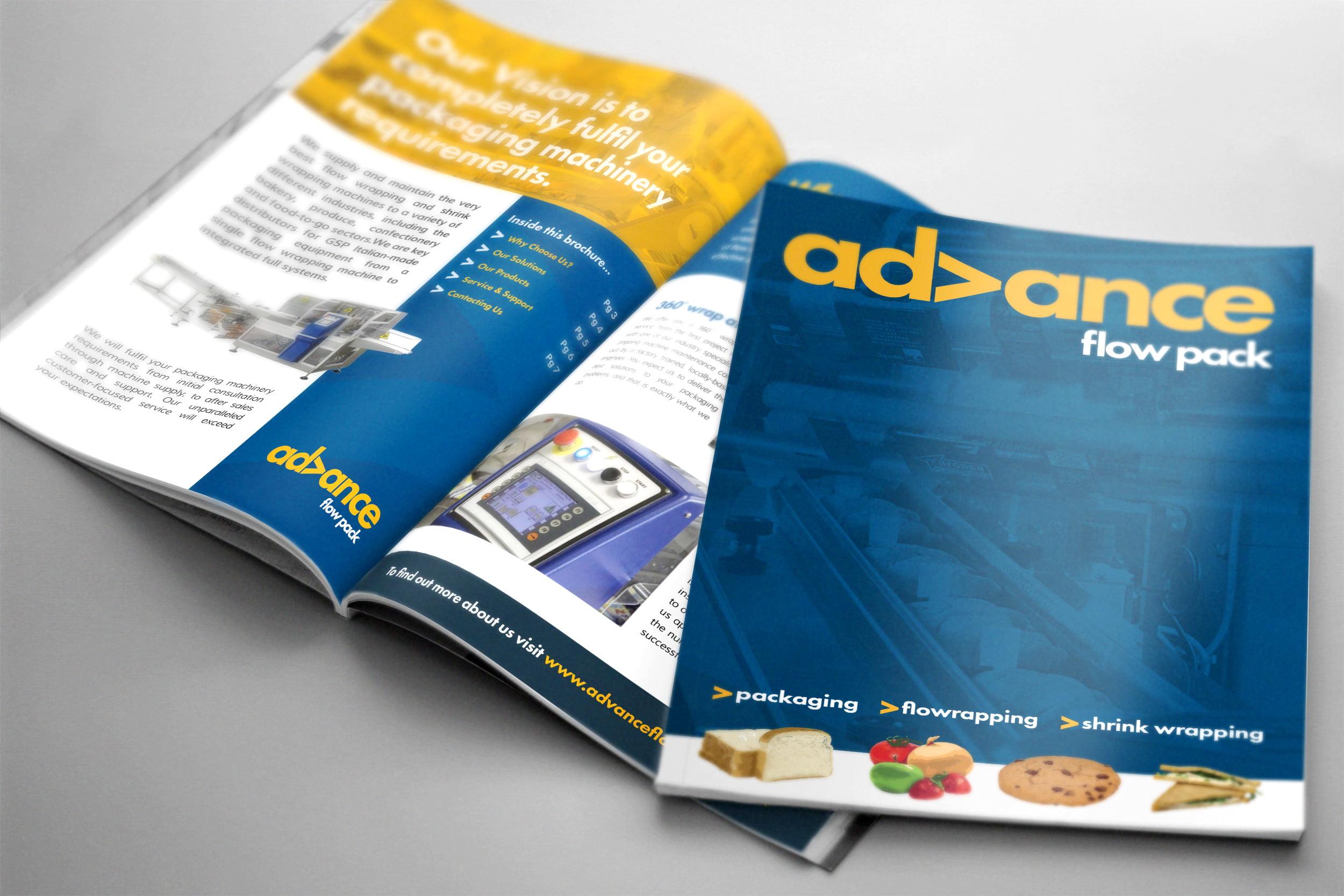 Advance Flow Pack brochure design