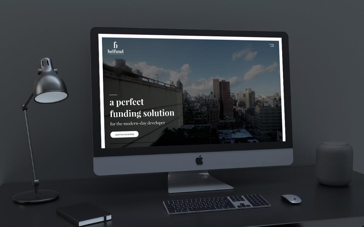 Belfund website displayed on desktop screen