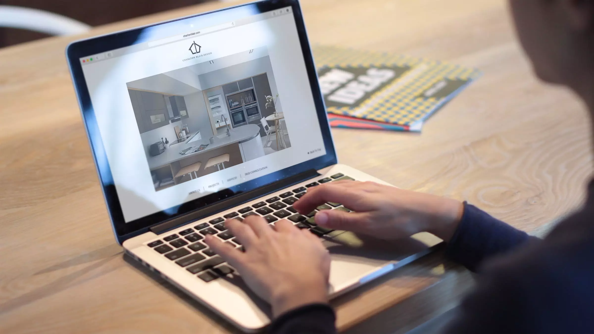 Charlton Blair website being viewed on a laptop screen