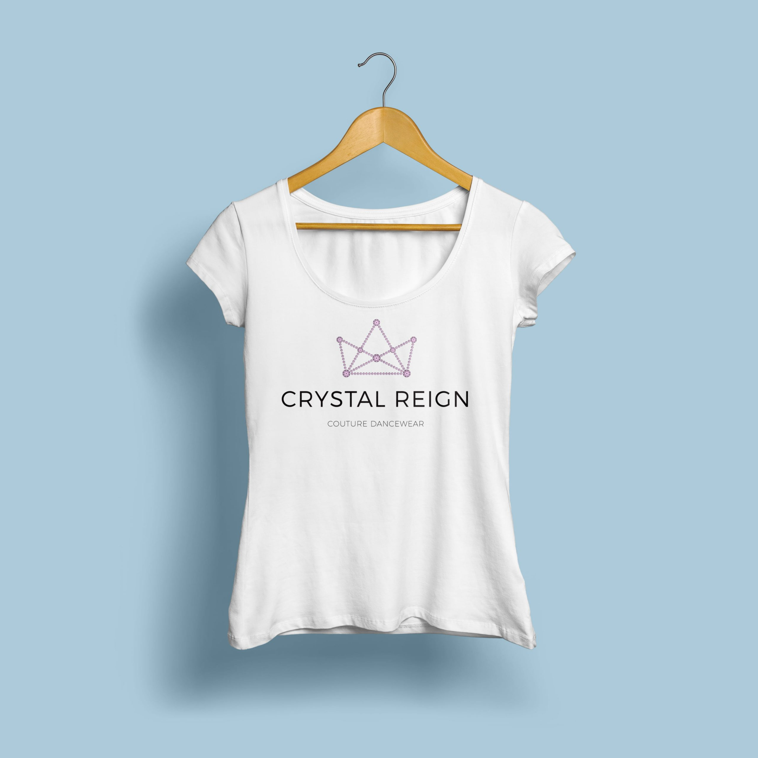 Crystal Reign logo printed on a T-shirt