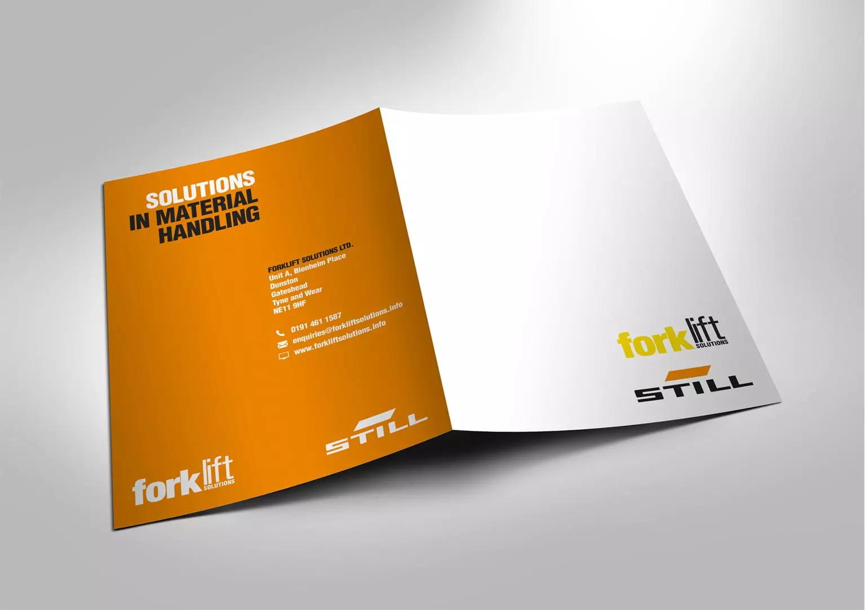 Forklift Solutions brochure designs