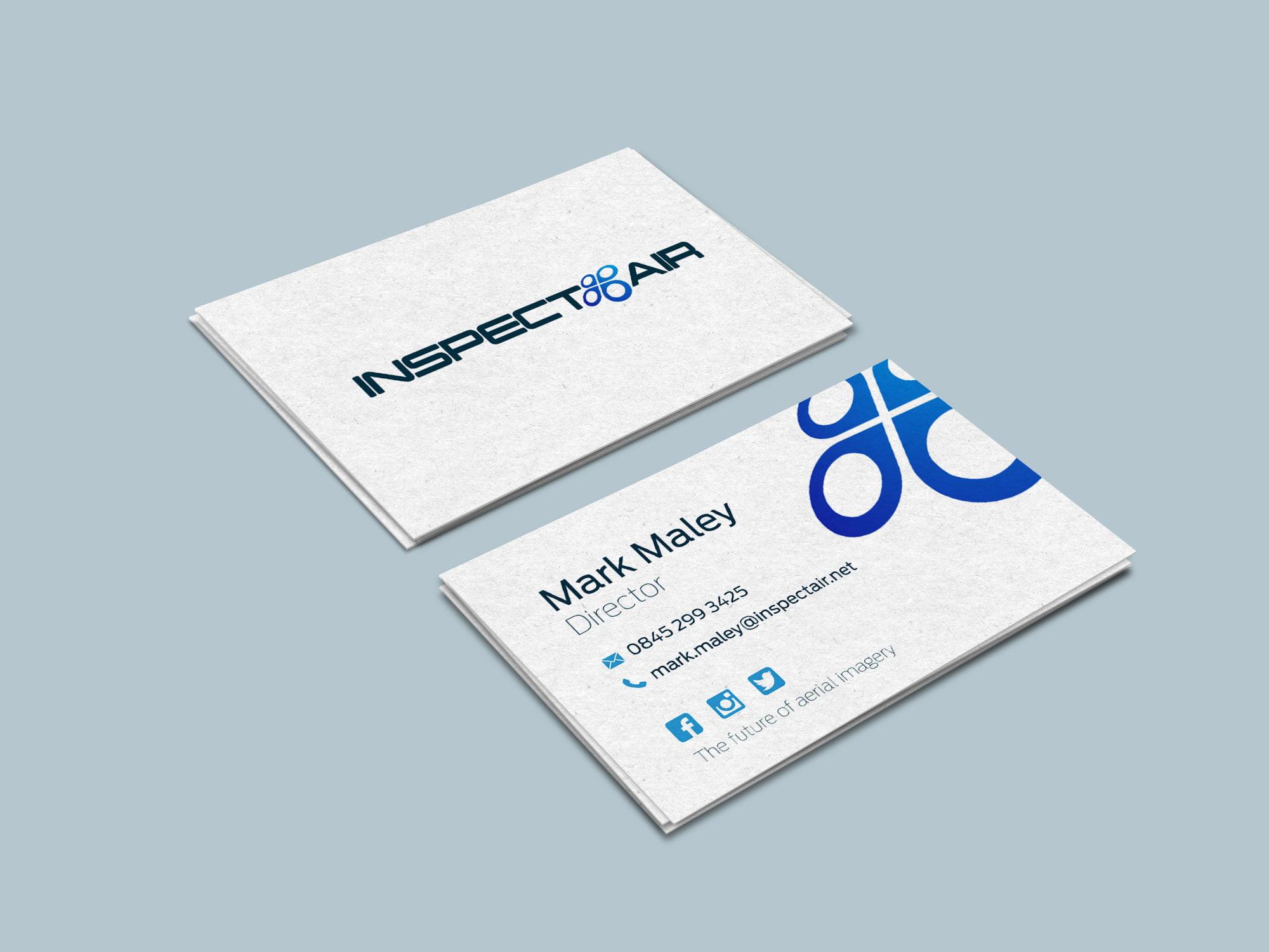Inspect Air business card designs