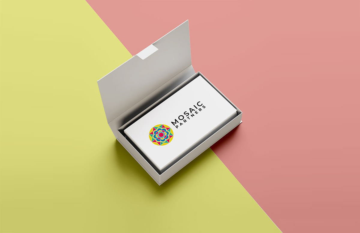 Mosaic Partners business card designs