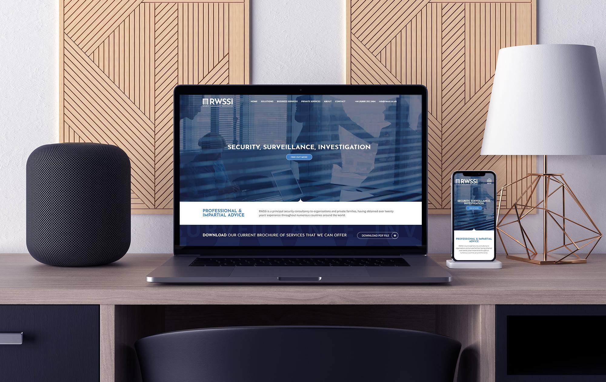 RWSSI website viewed on laptop