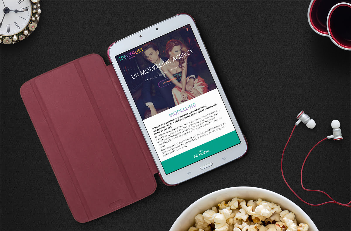 Spectrum Agency website displayed on mobile device