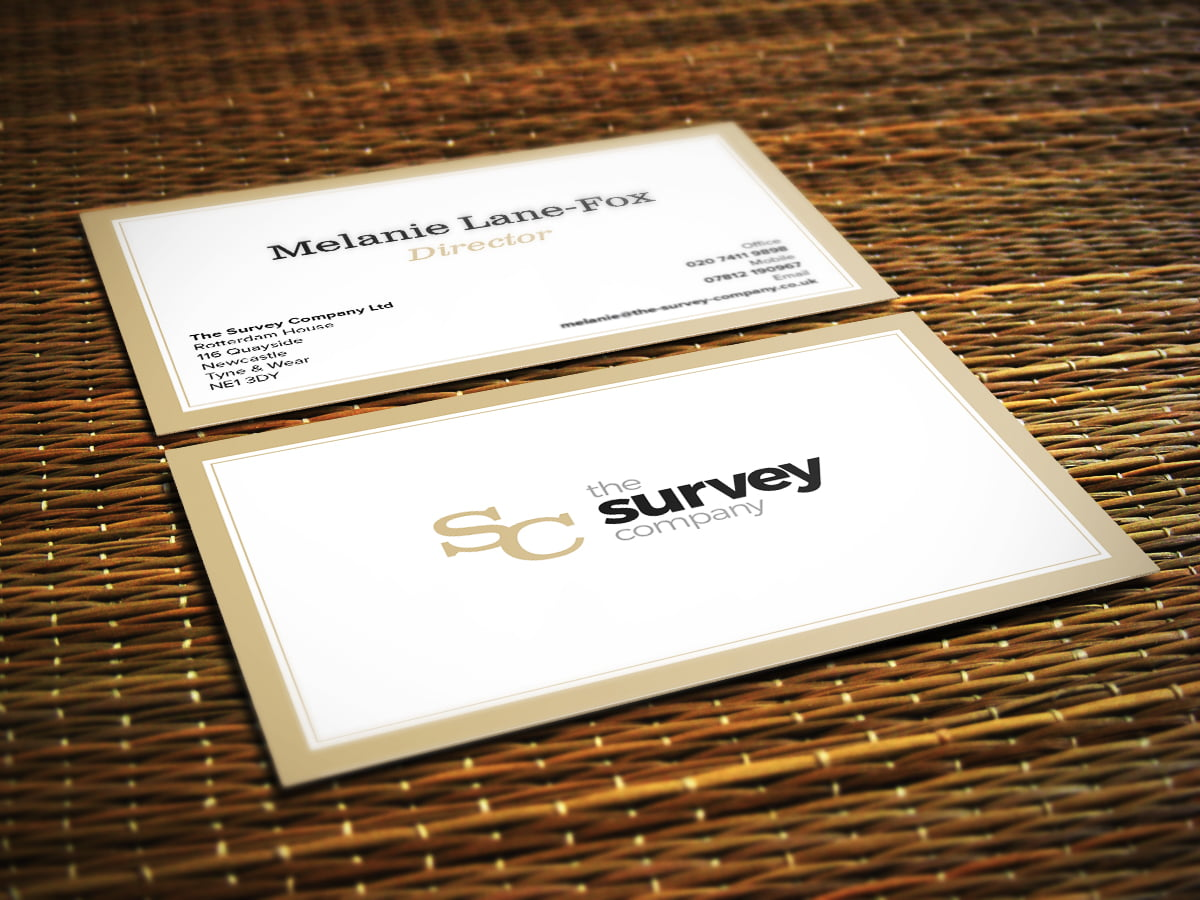 The Survey Company business card design
