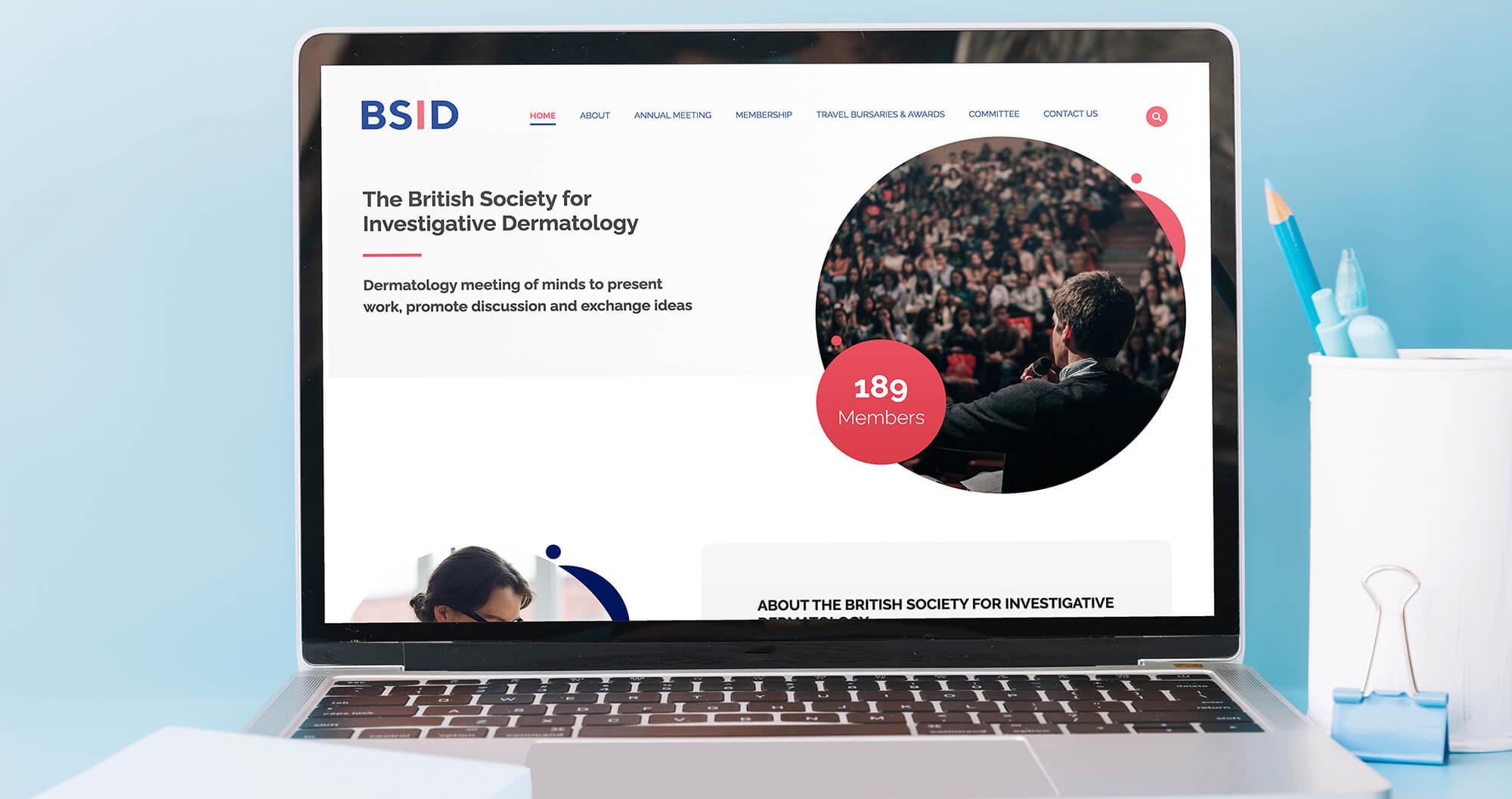 BSID website shown on a laptop screen