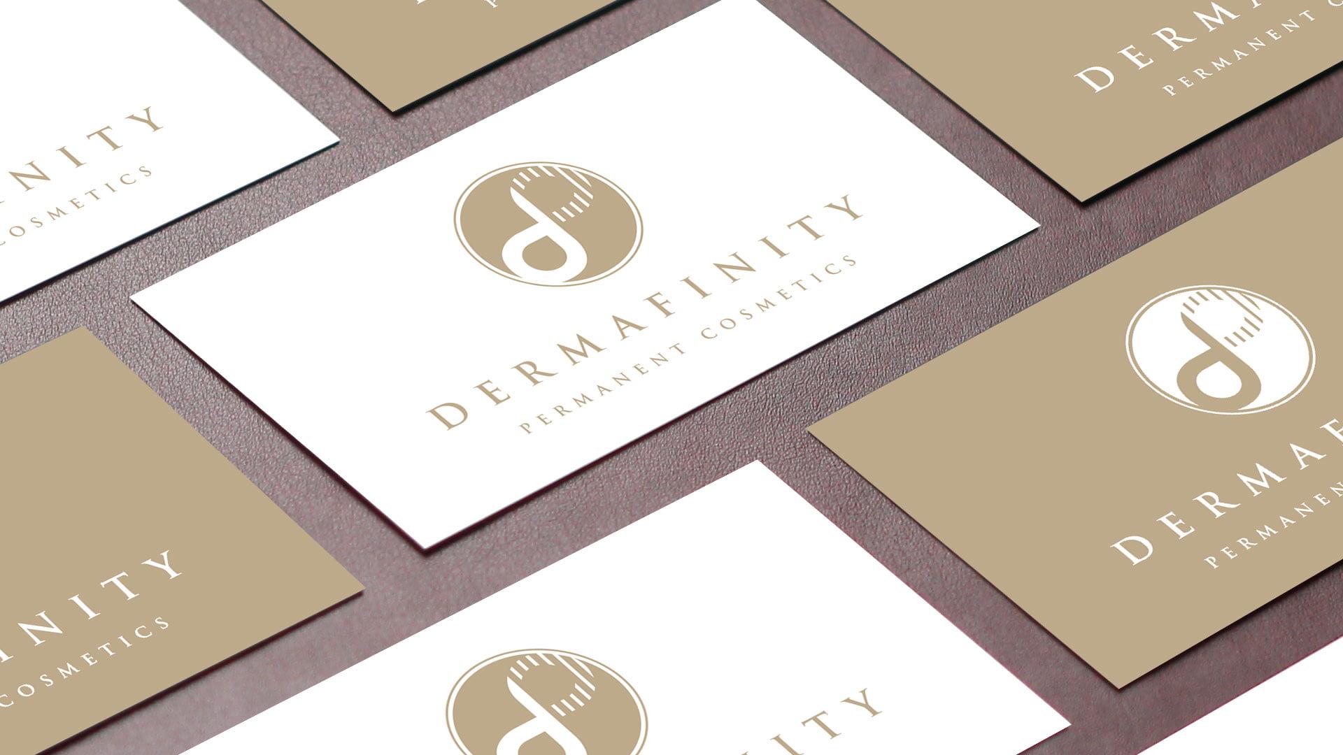 Dermafinity business card design