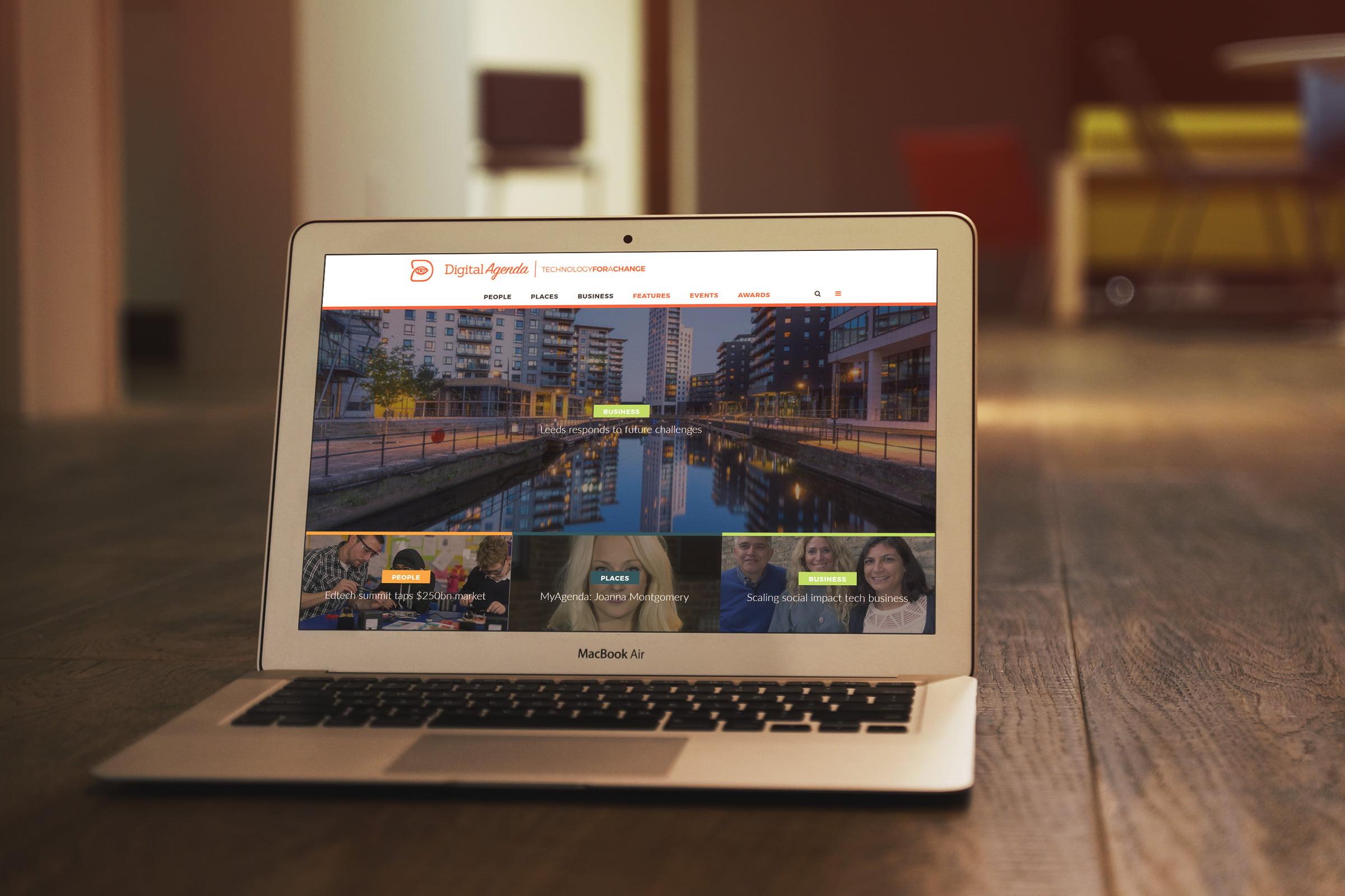 Digital Agenda website displayed on laptop