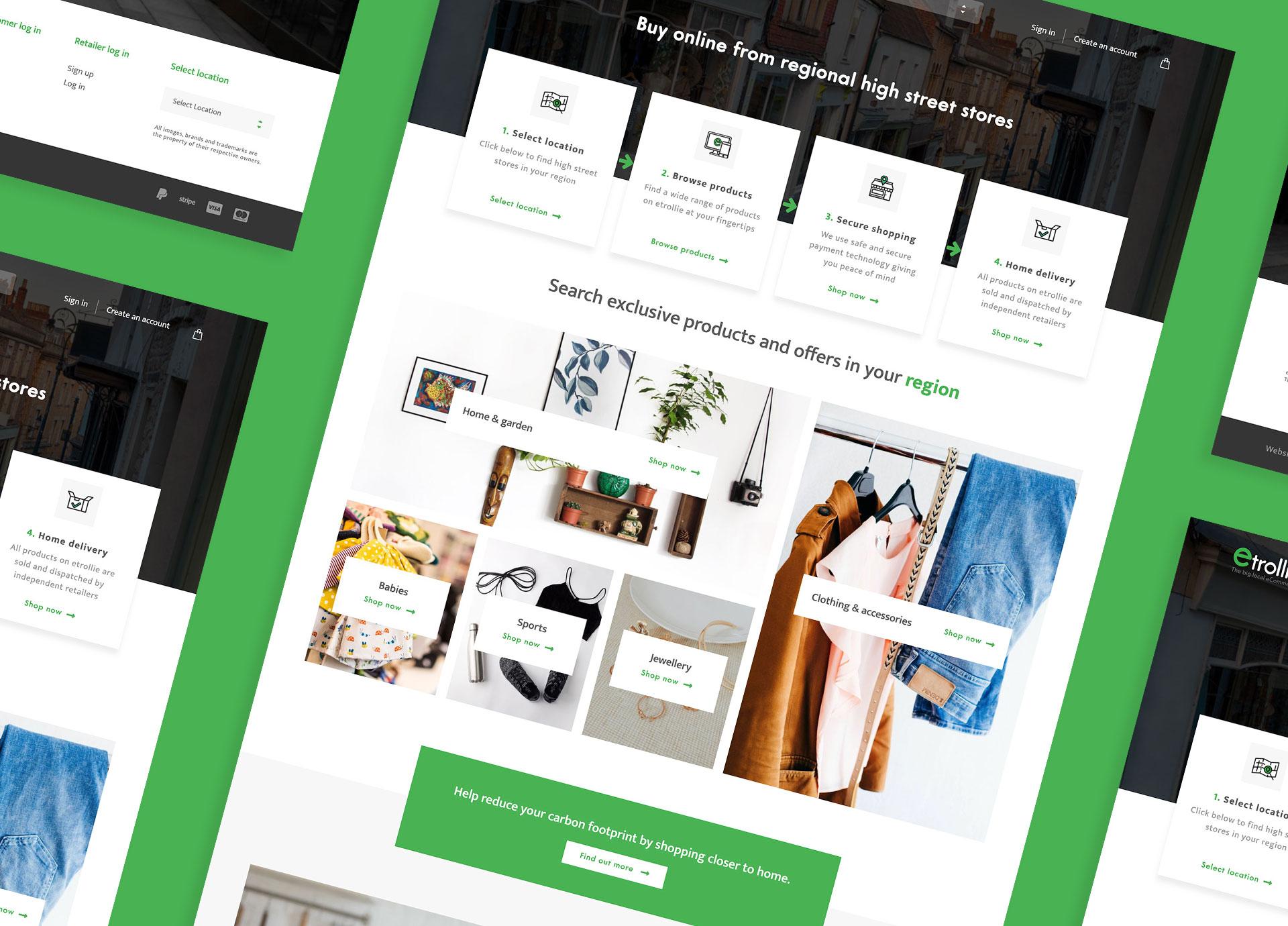 eTrollie's website design