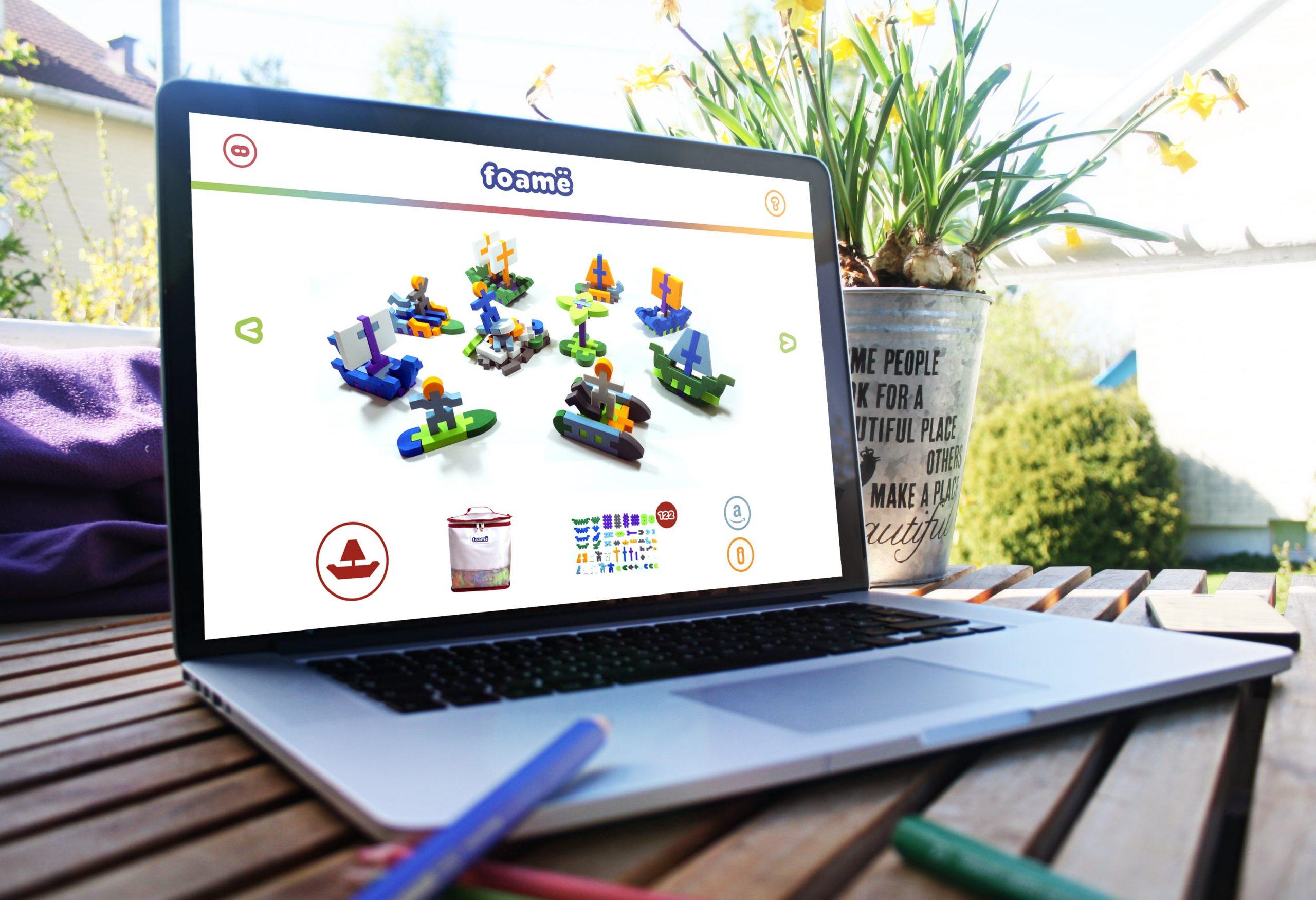 Foame website displayed on laptop