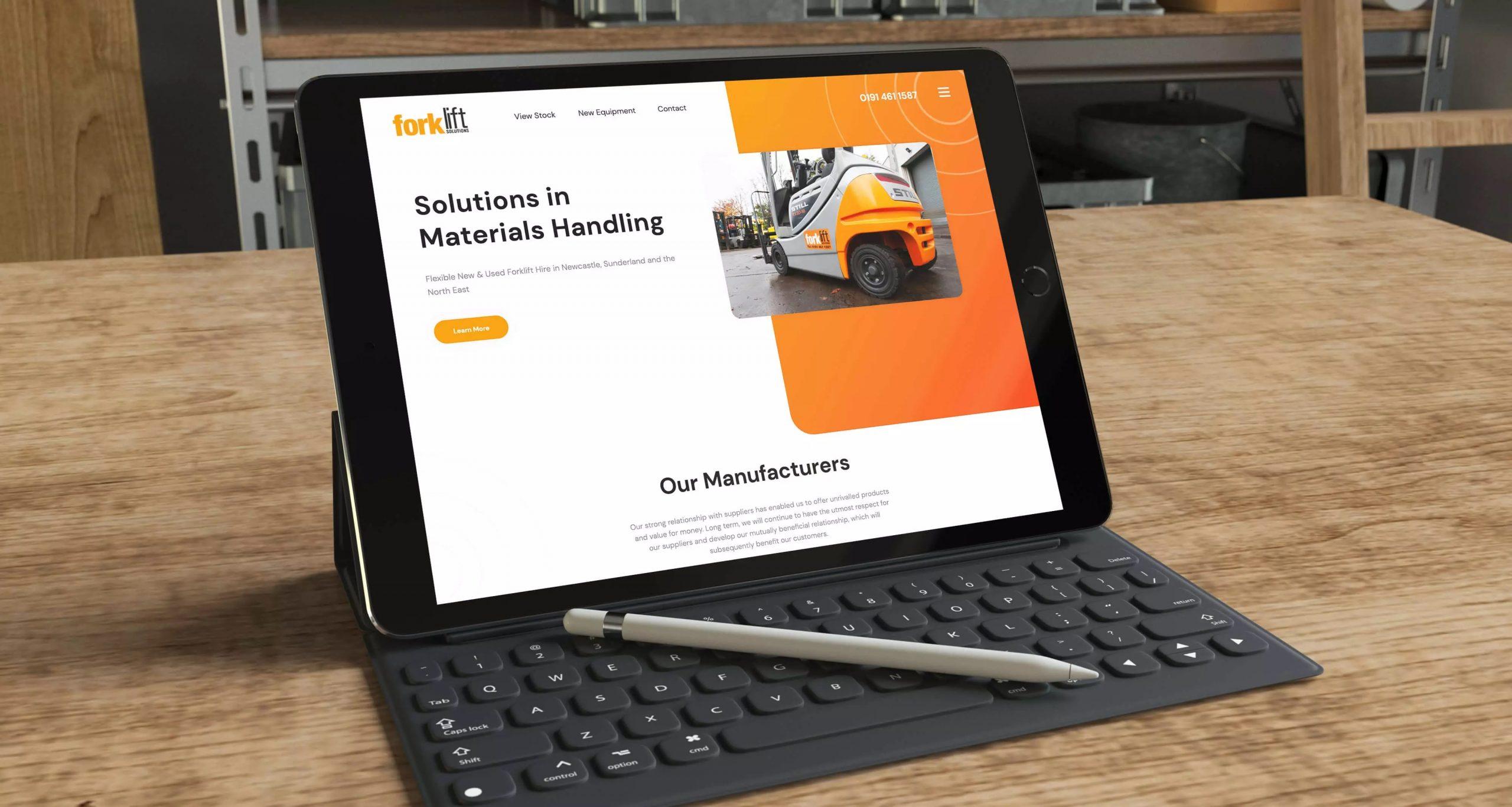 Forklift Solutions Website