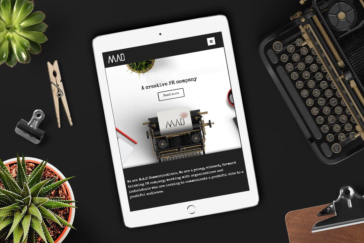 M.A.D Communications website