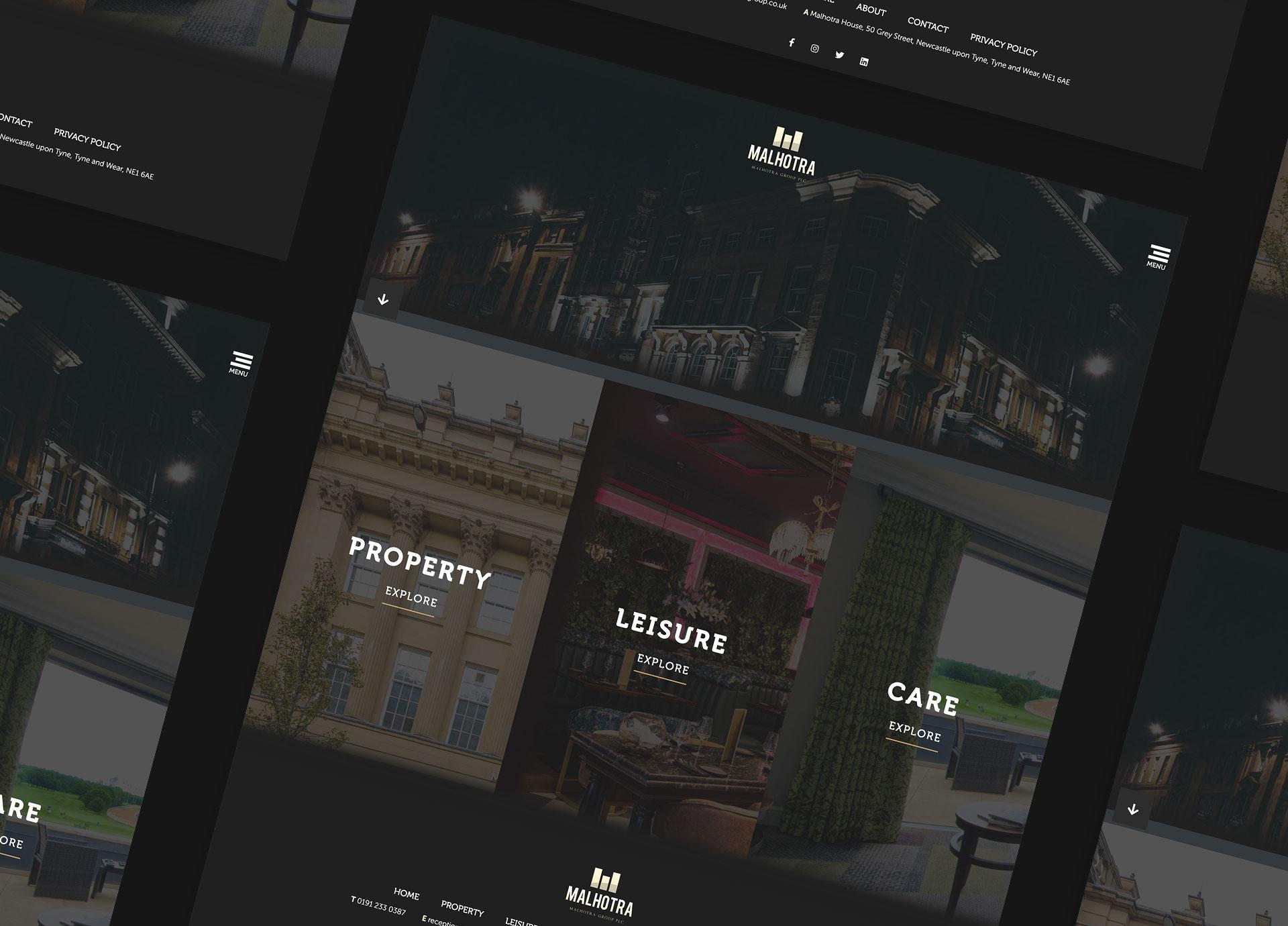 Malhotra Group website design