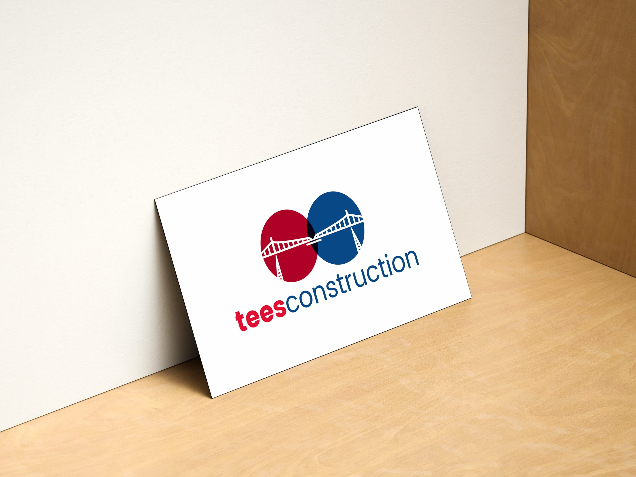 Tees Construction logo displayed on card
