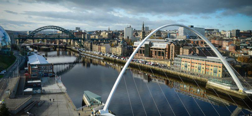 Newcastle upon Tyne River Skyline