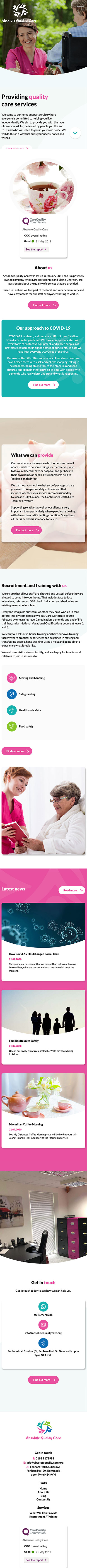 Absolute Quality Care - Mobile View