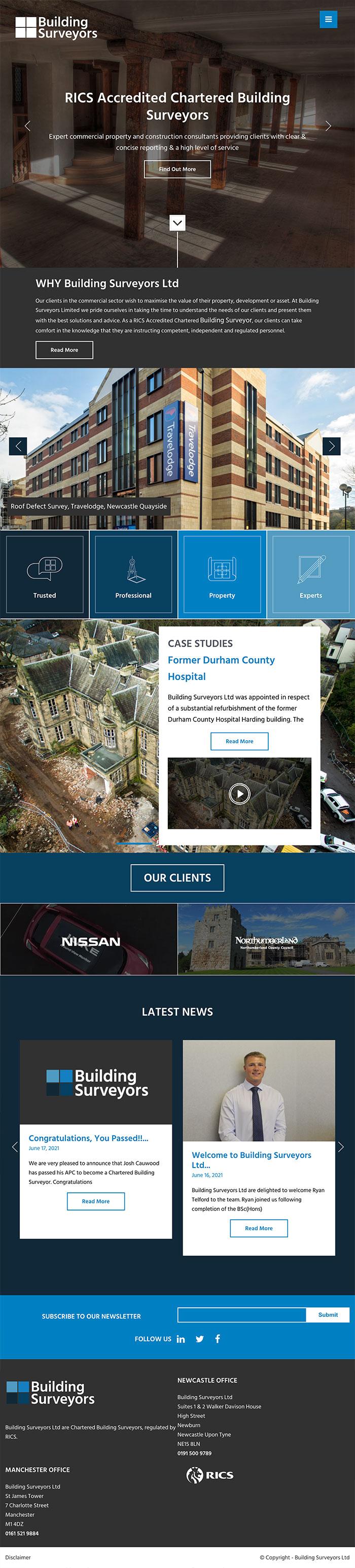 /buildingsurveyorsltd - Tablet View