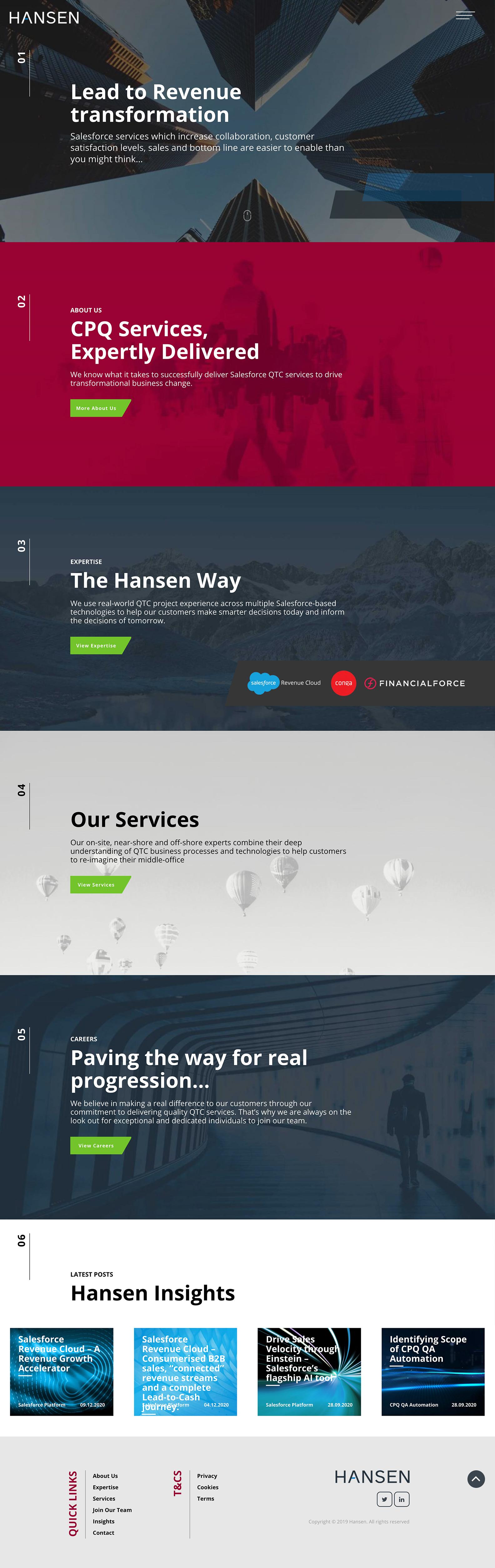 Hansen Desktop View