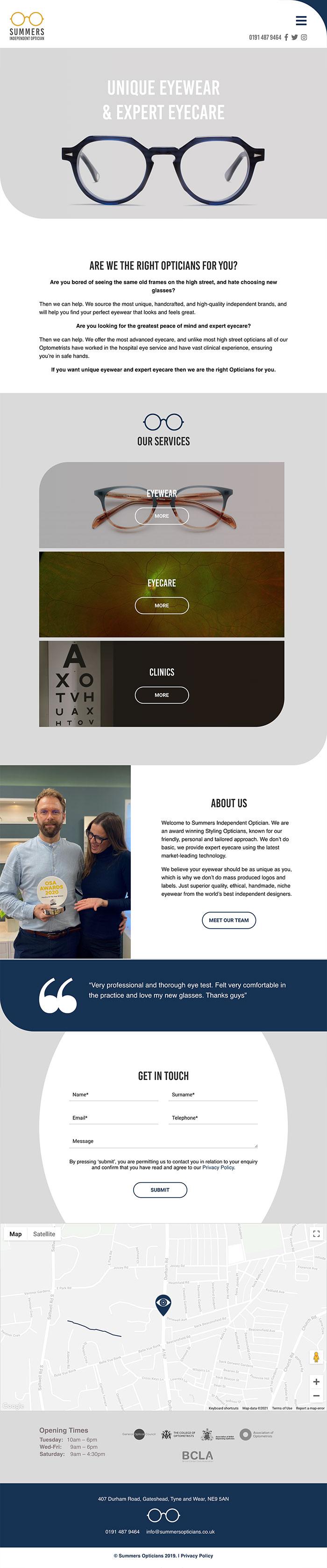 Summer Opticians Tablet