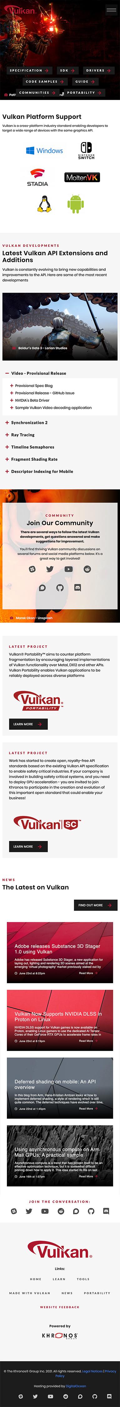 Vulkan Mobile View